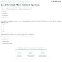 Matrix Addition Worksheet - algebra 2 adding and ...