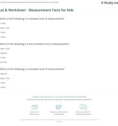 Quiz \u0026 Worksheet - Measurement Facts for Kids   Study.com [ 1121 x 1140 Pixel ]