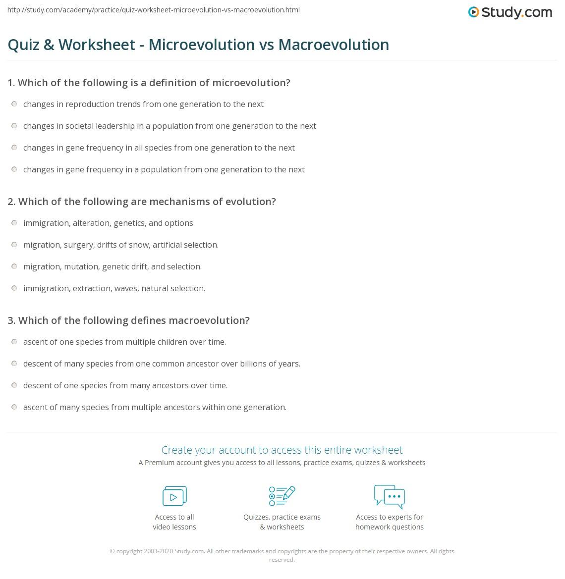 Microevolution And Macroevolution