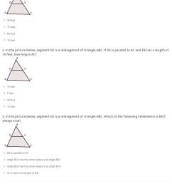 Quiz \u0026 Worksheet - Midsegment Theorem \u0026 Formula   Study.com [ 1763 x 1140 Pixel ]