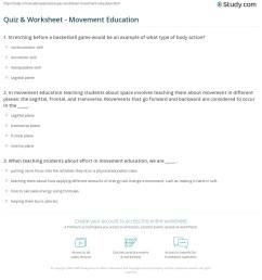 Quiz \u0026 Worksheet - Movement Education   Study.com [ 1225 x 1140 Pixel ]