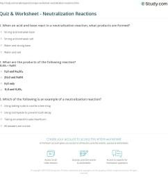 Quiz \u0026 Worksheet - Neutralization Reactions   Study.com [ 1172 x 1140 Pixel ]