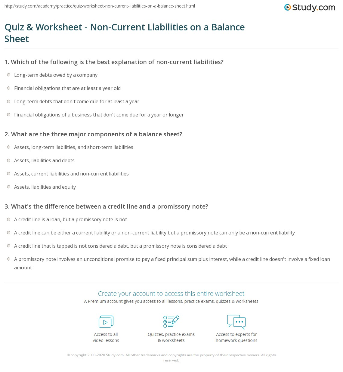Aa Assets And Liability Worksheet