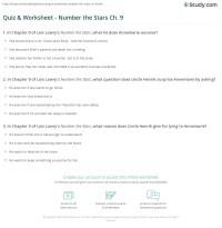 Quiz & Worksheet - Number the Stars Ch. 9 | Study.com