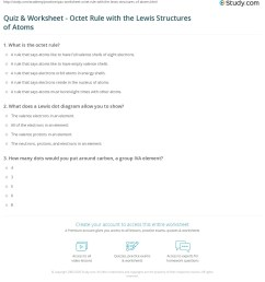 print the octet rule and lewis structures of atoms worksheet [ 1140 x 1350 Pixel ]