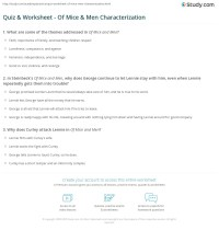 Quiz & Worksheet - Of Mice & Men Characterization | Study.com