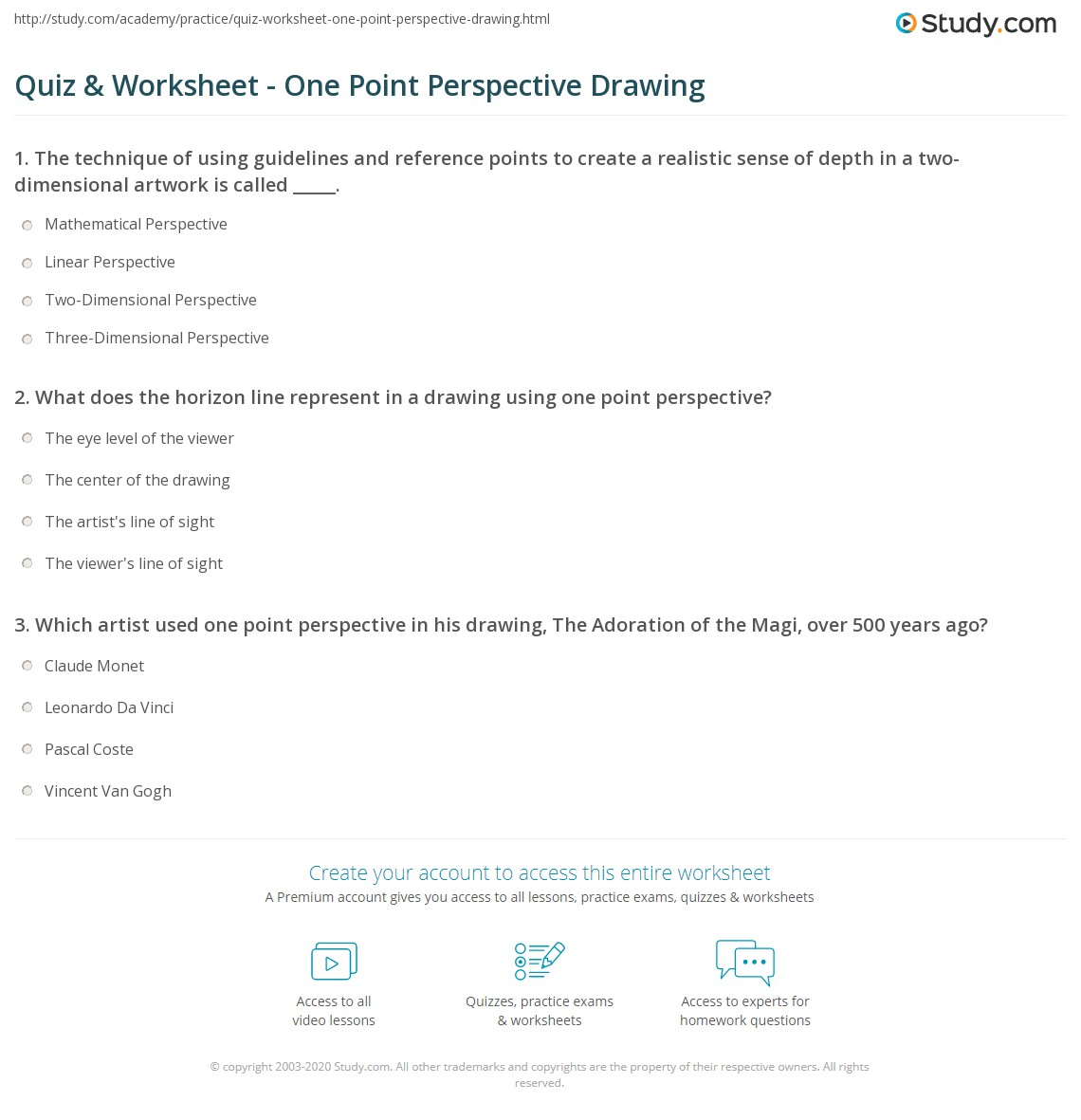 Worksheet On Reference Point