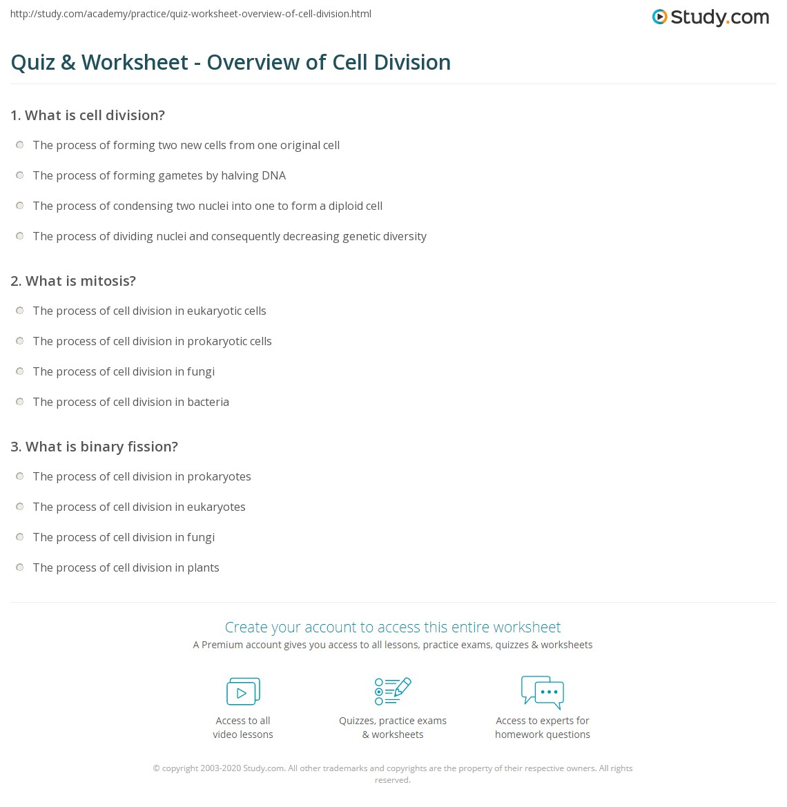 Chromosomes And Cell Reproduction Worksheet Answers