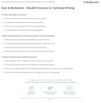 Parallelism Worksheets - Rcnschool