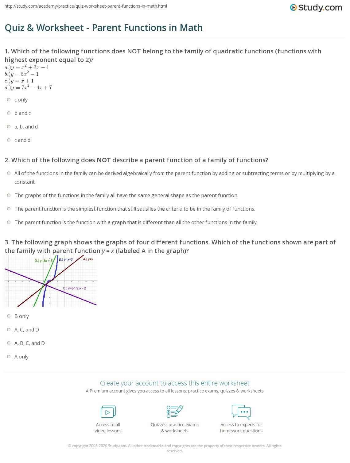 Math Study Worksheet