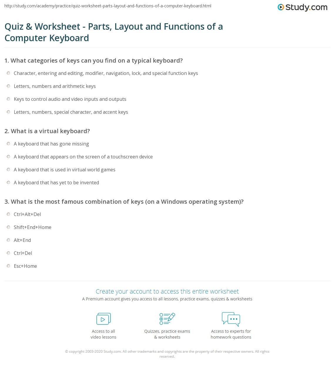 hight resolution of Quiz \u0026 Worksheet - Parts