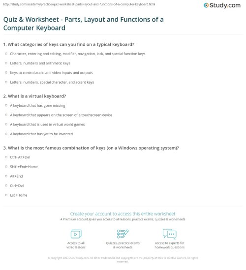 small resolution of Quiz \u0026 Worksheet - Parts