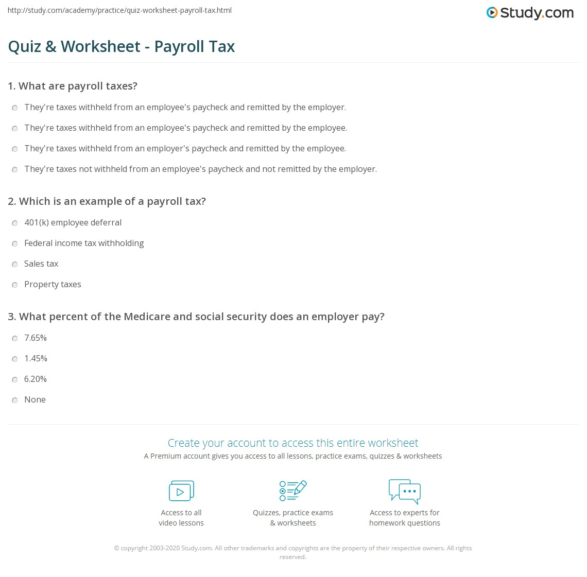 Federal Social Security Tax Worksheet
