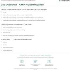 Precedence Diagram Method Project Management Visio Tree Template Quiz Worksheet Pdm In Study Com Print