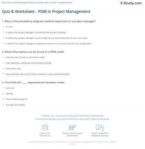 small resolution of print precedence diagram method in project management worksheet