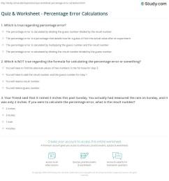 Percent Error Worksheet Answer Key - Nidecmege [ 1197 x 1140 Pixel ]