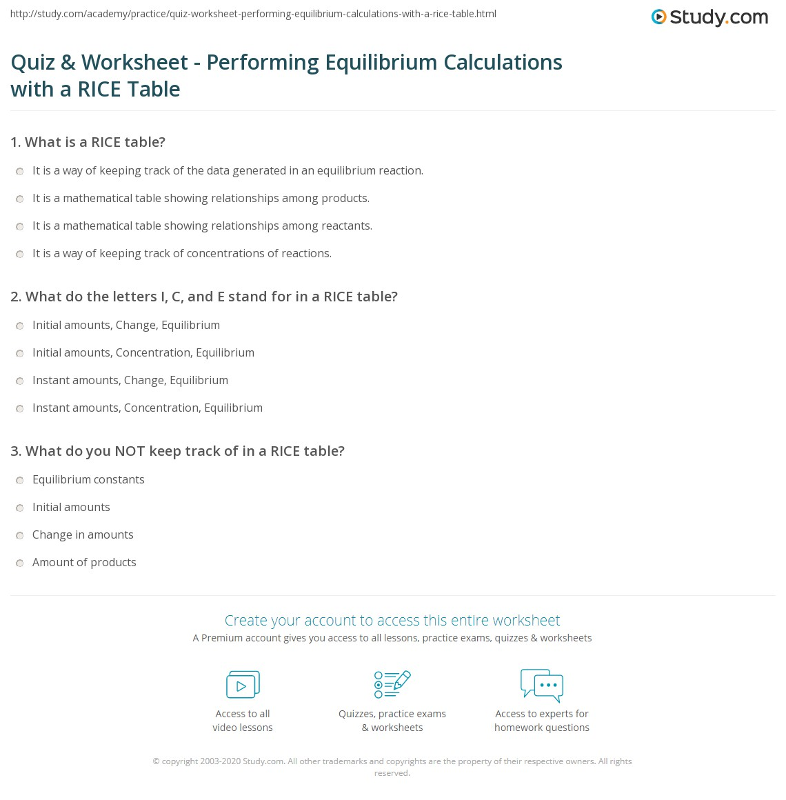 Printables Of Equilibrium Expressions Worksheet