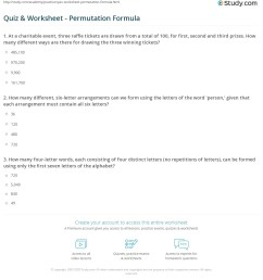 Permutation Practice Worksheets   Printable Worksheets and Activities for  Teachers [ 1237 x 1140 Pixel ]