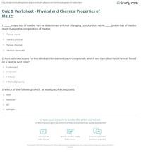 Properties Of Matter Worksheet. Worksheets. Releaseboard ...