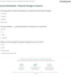 Quiz \u0026 Worksheet - Physical Change in Science   Study.com [ 1169 x 1140 Pixel ]