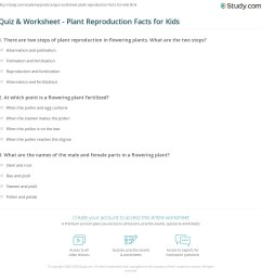 Quiz \u0026 Worksheet - Plant Reproduction Facts for Kids   Study.com [ 1169 x 1140 Pixel ]