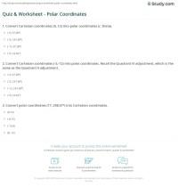 Quiz & Worksheet - Polar Coordinates | Study.com