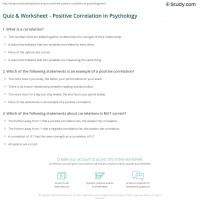 Quiz & Worksheet - Positive Correlation in Psychology ...