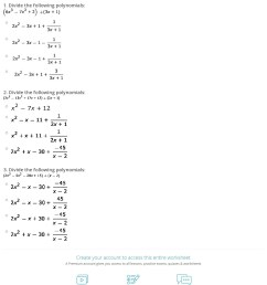 34 Dividing Polynomials Worksheet With Answers - Worksheet Resource Plans [ 1503 x 1140 Pixel ]