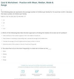 Quiz \u0026 Worksheet - Practice with Mean [ 1318 x 1140 Pixel ]