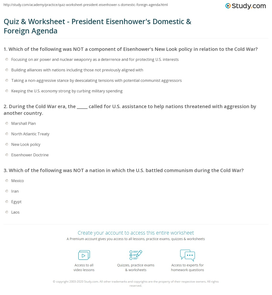 Eisenhower Worksheet