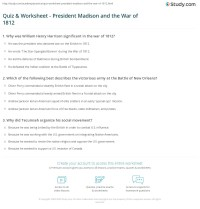War Of 1812 Worksheets Free Worksheets Library