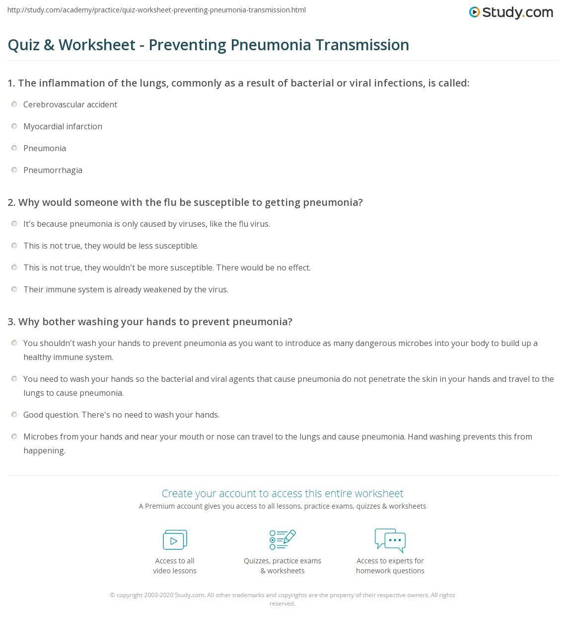 34 Preventing Infectious Diseases Worksheet Answers