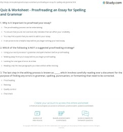Essay Editing Worksheets — Finding Common Errors [ 1188 x 1140 Pixel ]