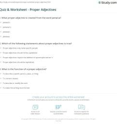 Quiz \u0026 Worksheet - Proper Adjectives   Study.com [ 1169 x 1140 Pixel ]