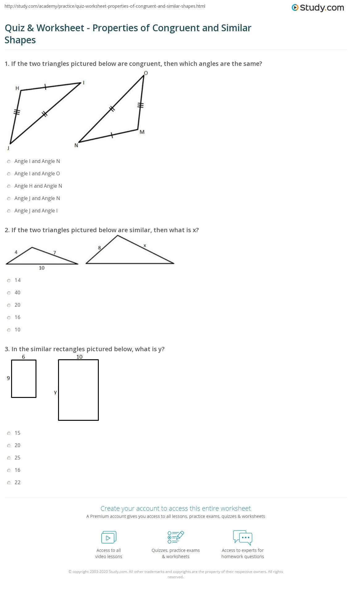 hight resolution of 32 Congruence And Similarity Worksheet With Answers - Worksheet Resource  Plans