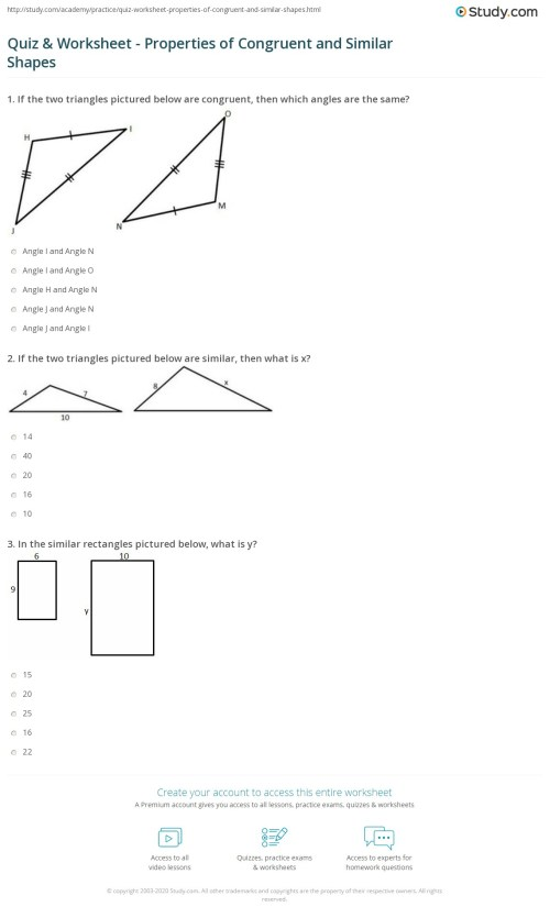 small resolution of 32 Congruence And Similarity Worksheet With Answers - Worksheet Resource  Plans