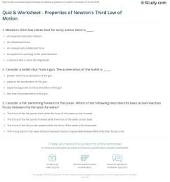 Quiz \u0026 Worksheet - Properties of Newton's Third Law of Motion   Study.com [ 1228 x 1140 Pixel ]