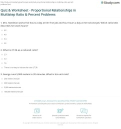 Quiz \u0026 Worksheet - Proportional Relationships in Multistep Ratio \u0026 Percent  Problems   Study.com [ 1193 x 1140 Pixel ]