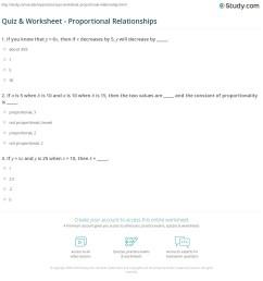 Quiz \u0026 Worksheet - Proportional Relationships   Study.com [ 1197 x 1140 Pixel ]