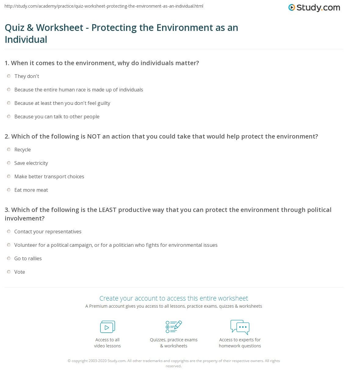 Skills Worksheet Critical Thinking Holt Environmental