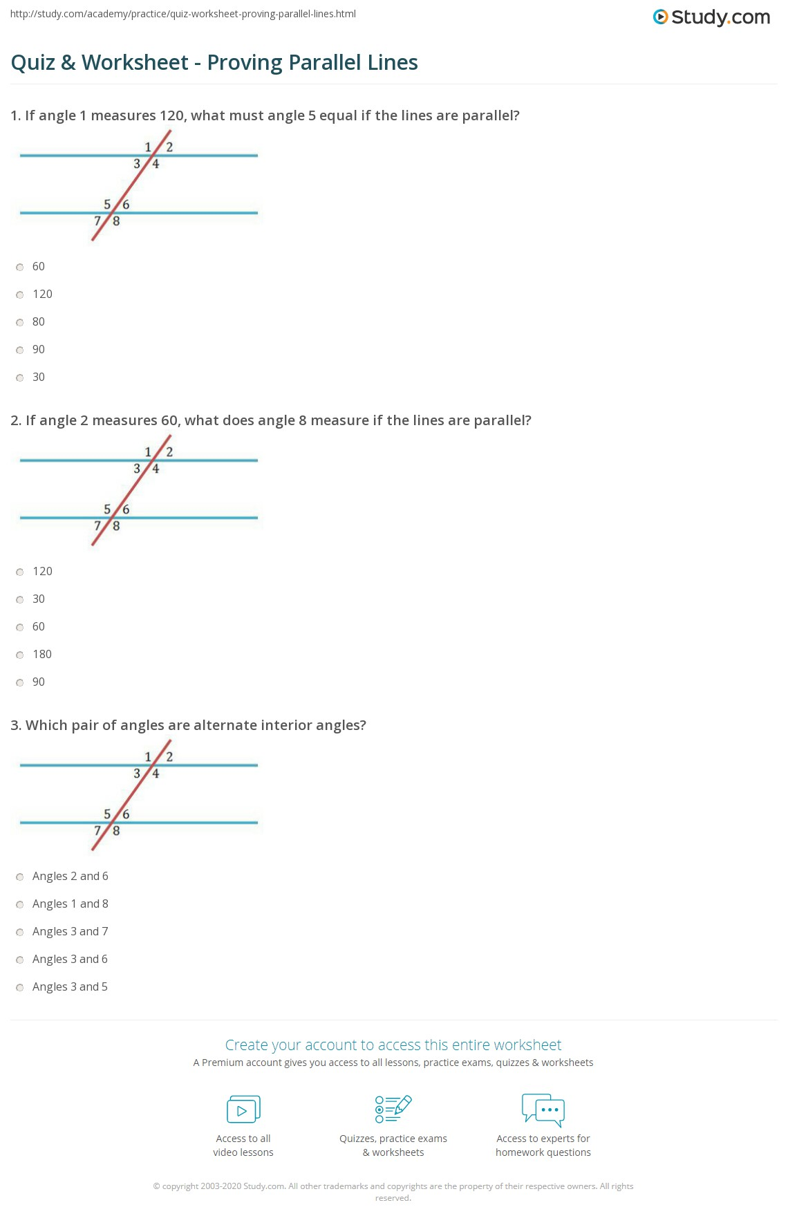 hight resolution of Angles And Parallel Lines Worksheet Answers - Promotiontablecovers