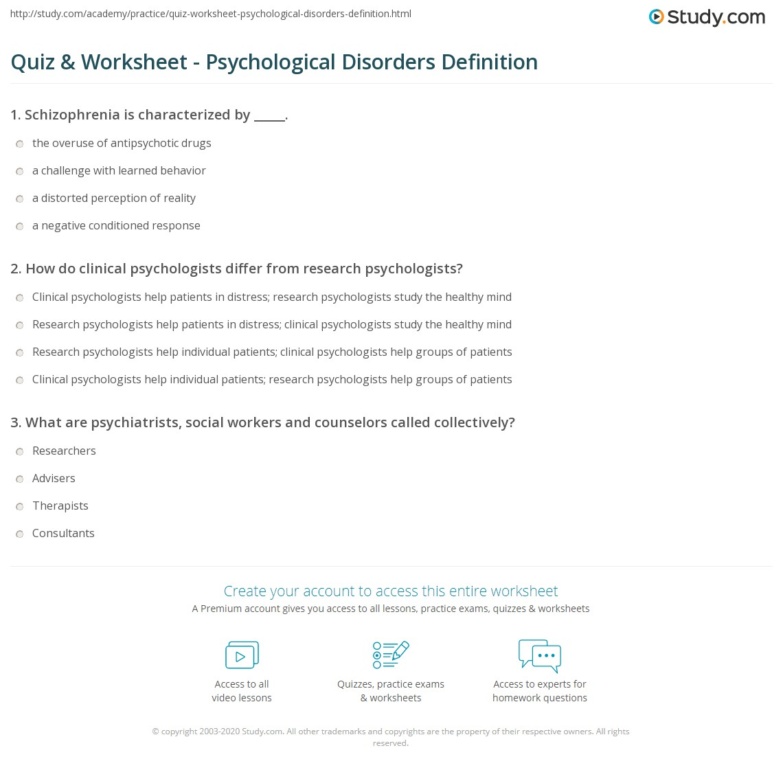 Research On Psychological Disorders A List Of Psychological Disorders 02 20