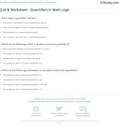 Quiz \u0026 Worksheet - Quantifiers in Math Logic   Study.com [ 1169 x 1140 Pixel ]