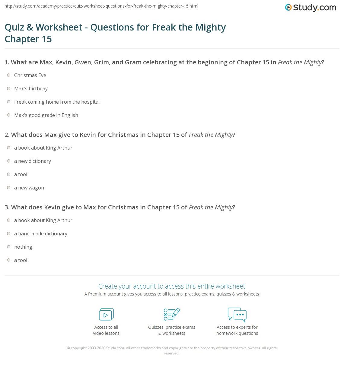 Quiz W Ksheet Questi S Fre K Mighty Ch Pter 15