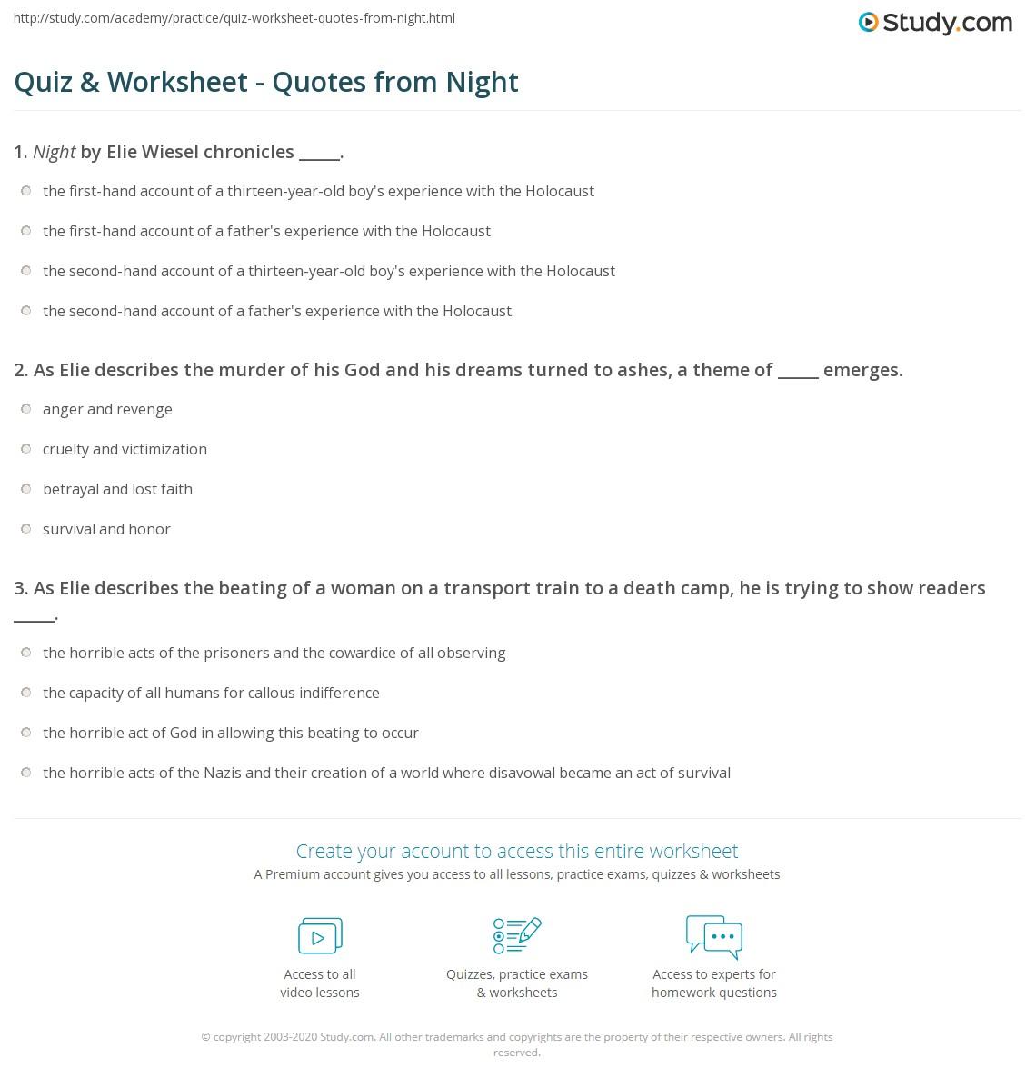 Printables Of Quoteysis Worksheet