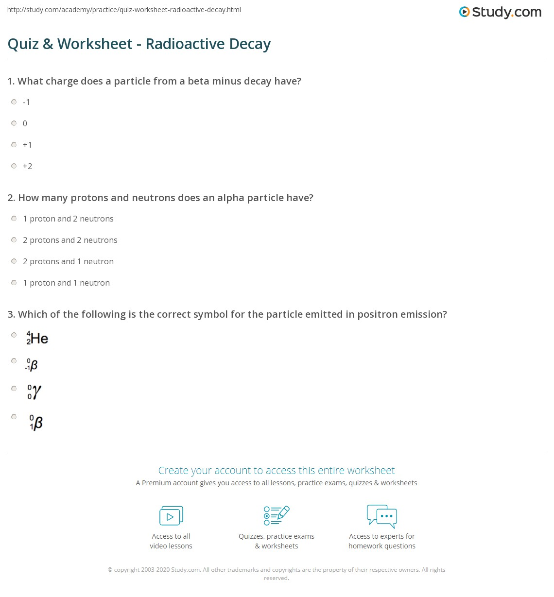 Nuclear Decay Equations Worksheet Worksheets Tutsstar