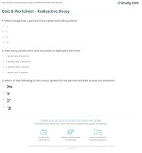 Quiz & Worksheet - Radioactive Decay | Study.com