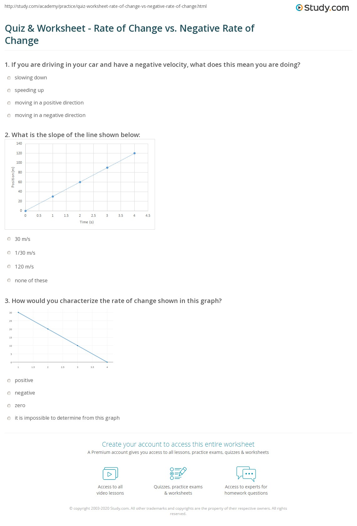 34 Rate Of Change And Slope Worksheet With Answers