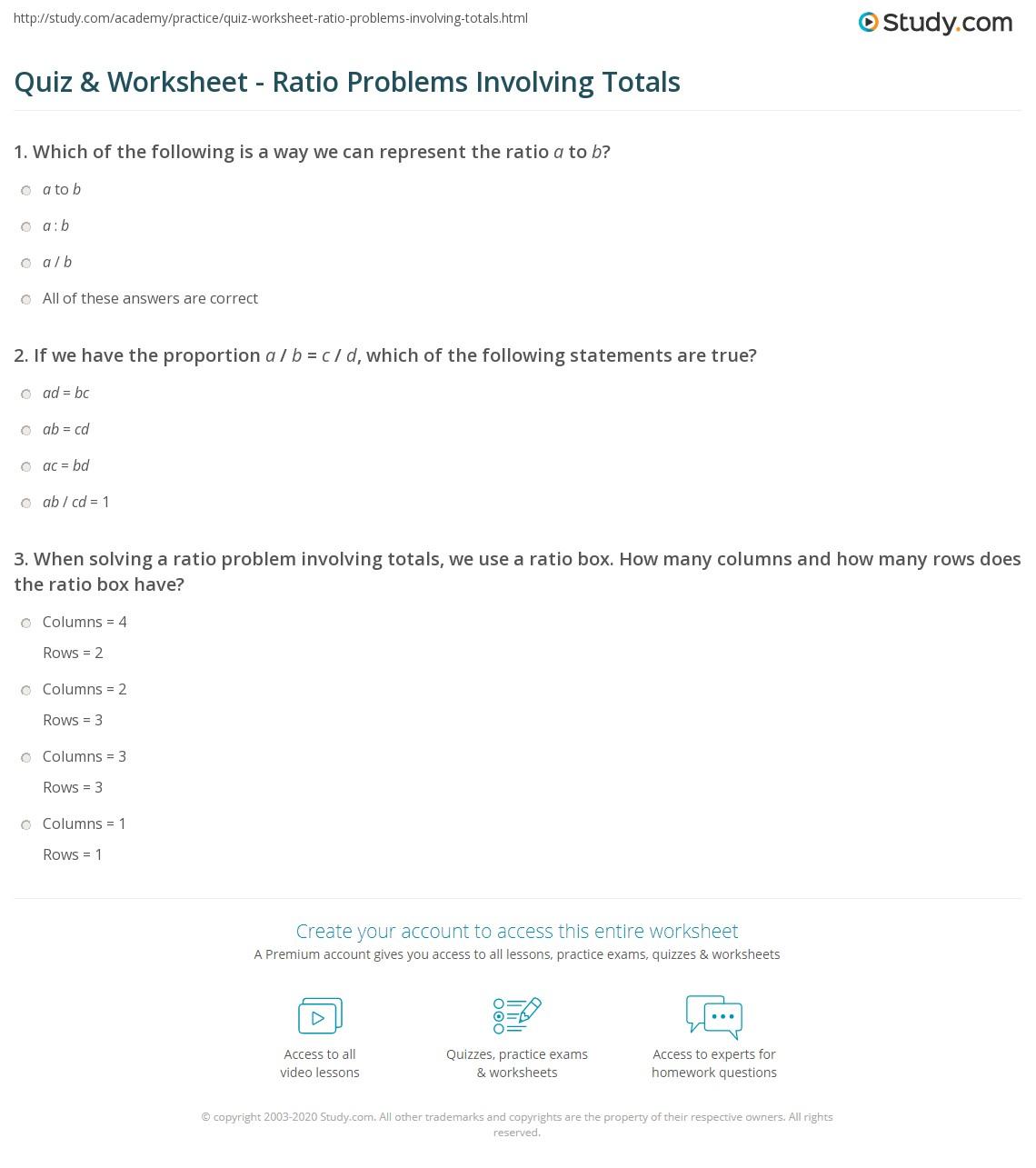 Quiz W Ksheet R Tio Problems Volv G Tot Ls Study
