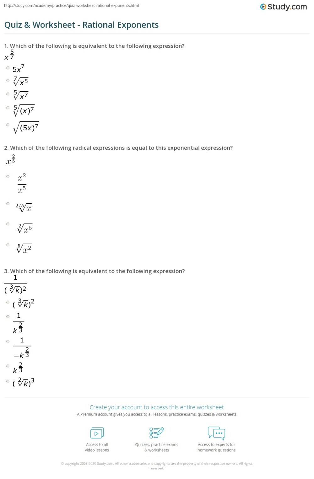 medium resolution of 33 Exponents And Radicals Worksheet With Answers - Worksheet Resource Plans